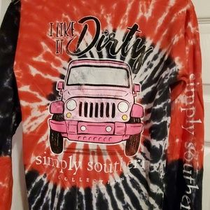 Tie dye simply southern Jeep long sleeve tee